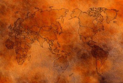 Plakat Stara mapa świata