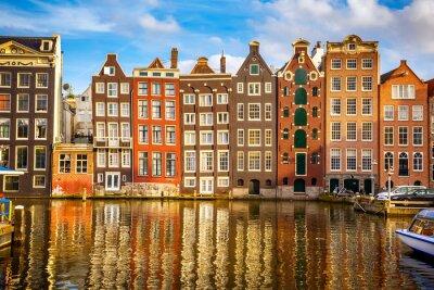 Plakat Stare budynki w Amsterdamie