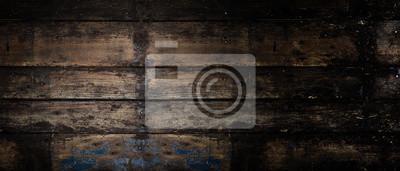 Plakat Stare drewnianych panoramiczny transparent tło