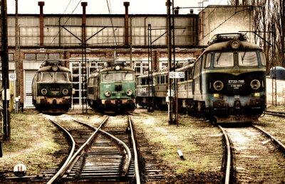 Plakat Stare lokomotywy