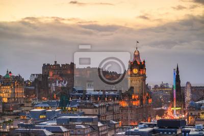 Plakat Stare Miasto i Zamek w Edynburgu Edynburg