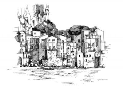 Plakat Stare miasto w skale