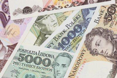 Stare Polskie Banknotów Bliska W Studio Prl Złoty Pieniężny Plakaty Redro