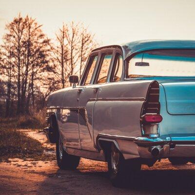 Plakat Stare retro lub vintage car powrotem. Vintage przetwarzanie efektów