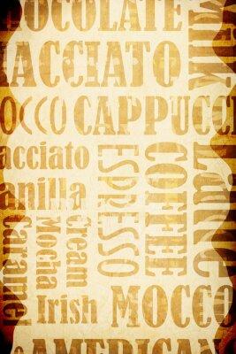 Plakat Stare tło kawa