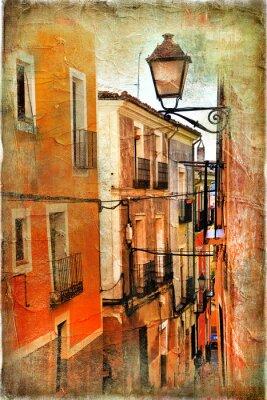 Plakat Stare ulice Hiszpanii - artystyczny obraz