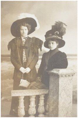 Plakat stare zdjęcie dwóch kobiet