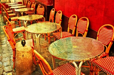Plakat staromodny taras Cafe