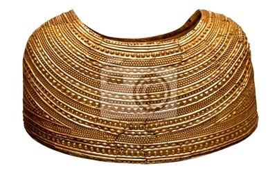 Plakat Starożytna cape złota z epoki brązu Brytanii