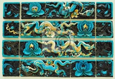 Plakat Starożytna chińska mozaika