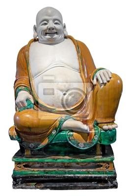 Plakat Starożytna chińska śmiech statua Buddy