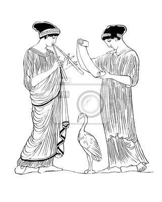 Plakat Starożytna Grecja: Teatr Scena