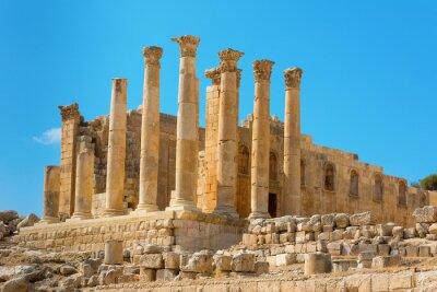 Plakat Starożytna Jerash Jordan Świątynia Artemidy
