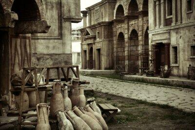 Plakat Starożytna widok budynków