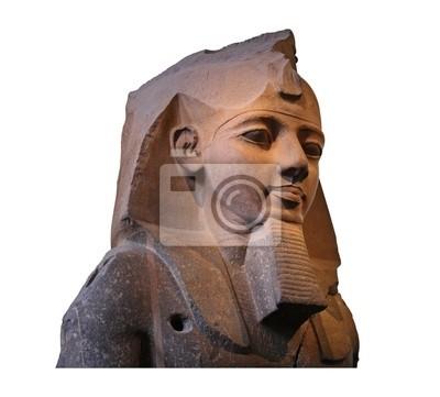 Plakat Starożytny egipski faraon głowy