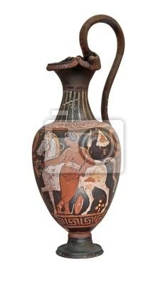 Plakat Starożytny grecki Wazon samodzielnie na białym tle