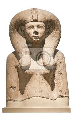 Plakat Starożytny kamienny biust bogini egipskiej