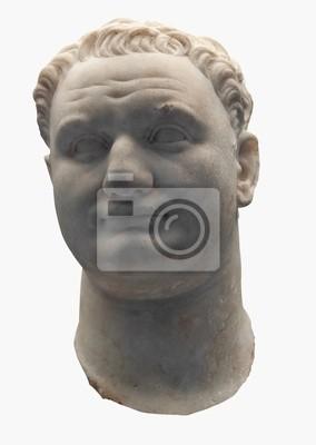 Plakat Starożytny marmurowe popiersie cesarza rzymskiego Tytusa