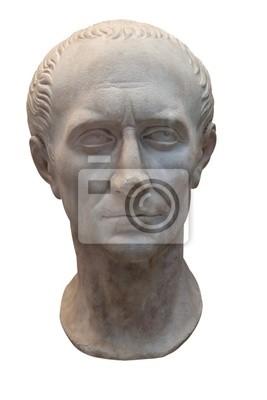 Plakat Starożytny marmurowe popiersie Juliusza Cezara