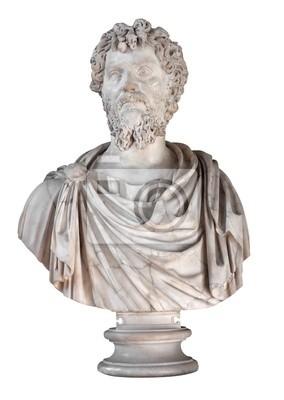 Plakat Starożytny marmurowe popiersie rzymskiego cesarza Septymiusza Sewera