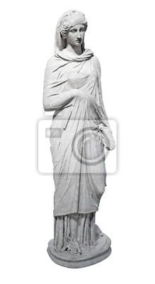 Plakat Starożytny marmurowe statua młodej kobiety