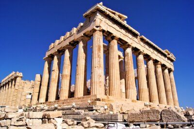 Plakat Starożytny Partenon, Akropol, Ateny, Grecja