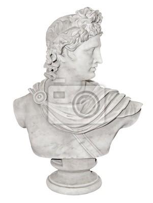 Plakat Starożytny posąg Aleksandra pojedyncze Świetne na biały