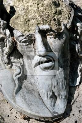 Plakat starożytny relief Jezus Chrystus głowę