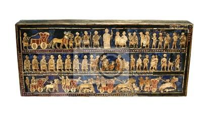 Plakat Starożytny sumeryjski artefakt znany jako Standsrd Ur