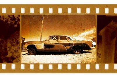 stary 35mm ramka na zdjęcia z amerykańskiego samochodu retro