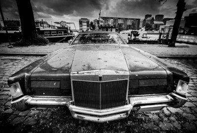 Plakat Stary amerykański samochód