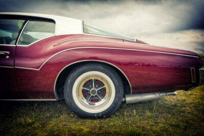 Plakat Stary amerykański samochód w stylu vintage