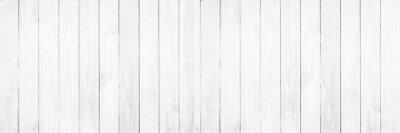 Plakat Stary biały drewniany tekstury tło.