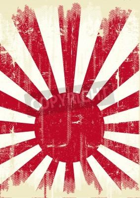Plakat Stary flaga grunge Japonii dla Ciebie