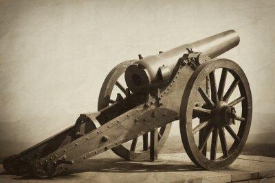 Plakat stary heavy gun