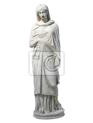 Plakat Stary marmurowy posąg młodej kobiety