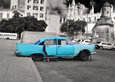 Plakat Stary samochód havana