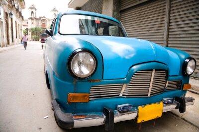 Plakat Stary samochód, Hawana, Kuba