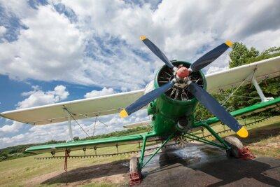 Plakat Stary samolot przeciwko nieba
