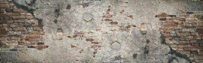 Plakat Stary ściana z cegieł tekstury tło