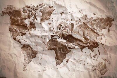 Plakat Stary teksturą mapie