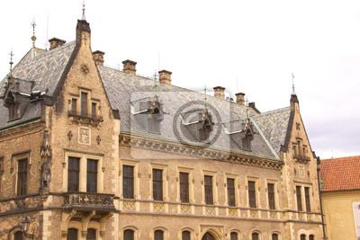 Plakat Stary Widok miasta Praga - starych budynków