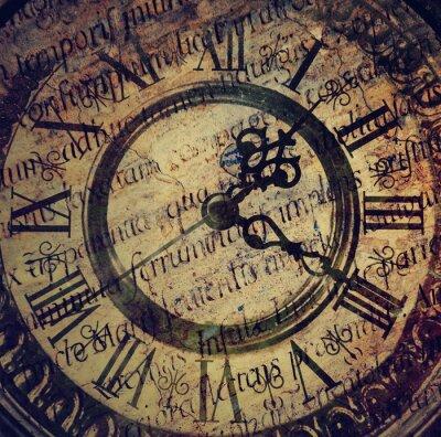 Plakat Stary zabytkowy zegar