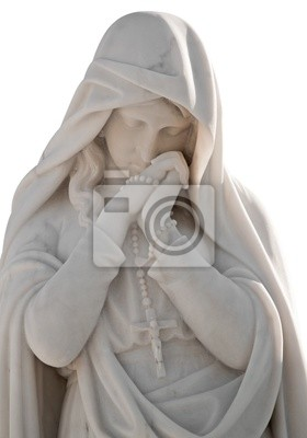 Plakat Statua piękną kobietę z ekspresji smutek wyizolowanych