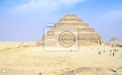 Step Pyramid Sakkara w pobliżu Kairu, w Egipcie.