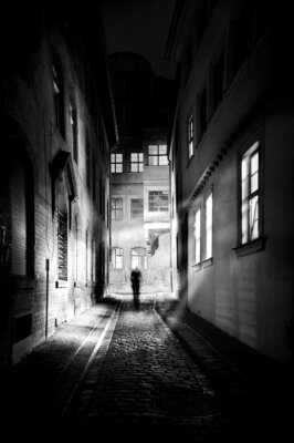 Plakat Straßen bei Nacht