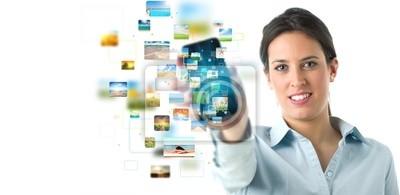 Plakat Streaming baner telefonu komórkowego