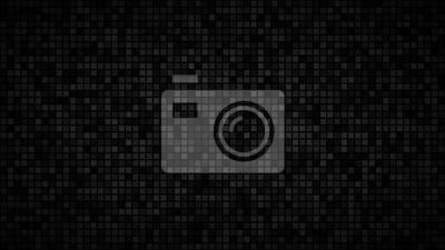 Plakat Streszczenie ciemne tło małych kwadratów lub pikseli w odcieniach czerni i szarości.