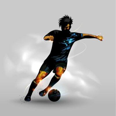 Plakat Streszczenie dryblingu piłka nożna