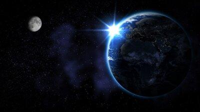 Plakat Streszczenie Earth